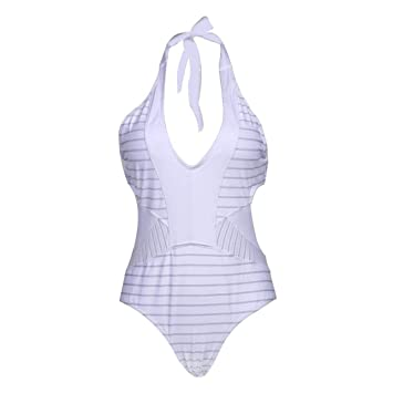 ZHRUI Bikini de una Pieza Traje de baño para Mujer Tanga de Talle Alto Sexy Crochet ...