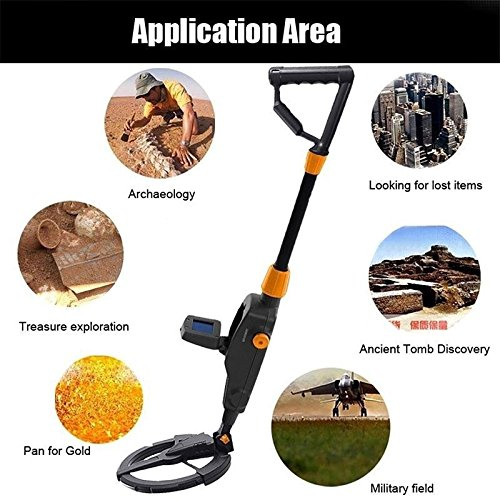 yunli HOT SALE Kids Hand-Held Metal Detector Beach Courtyard Teenager Basic Metal Finder Highly Sensitive Treasure Searching Hunt Gold Tool for Children Gift by yunli