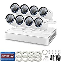 ANNKE 8CH 1080P NVR Simplified PoE Camera system with 8 960P IP67 Weatherproof Outdoor IP Cameras, Smart Motion-Activated Alerts, Plug and Play, NO HDD