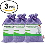 3-Pack Great Value SG Bamboo Charcoal Deodorizer Power Pack, Best Air Purifiers for Smokers & Allergies, Perfect Car Air Fresheners, Remove Smell for Home & Bathroom (3, Purple)