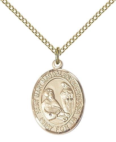 Amazon 14kt Gold Filled St Mary Magdalene Of Canossa Pendant