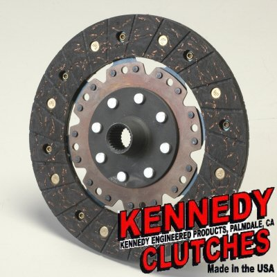 (Kennedy Racing Metal Woven Clutch Single Disc 200mm 8 Inch Diameter For VW 13/16 Inch 24 Spline)