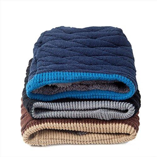 Invierno oscuro Sombreros hombre azul al Classic Otoño libre para cálido de Para oscuro cráneo azul tapas Baggy Beanie punto invierno gorro aire HxxTqU56w