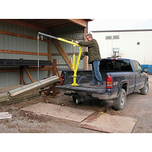 "Vestil Jib Crane With Manual Lift - 32-3/4"" To 49-1/4"" Bo..."