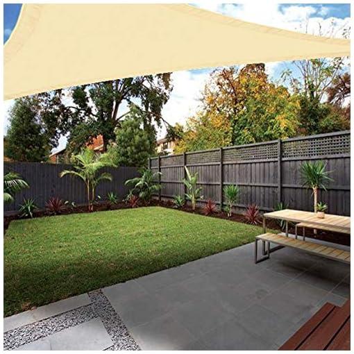 Ankuka – Tenda parasole da giardino e patio, baldacchino che blocca i raggi UV al 98%, completa di corda