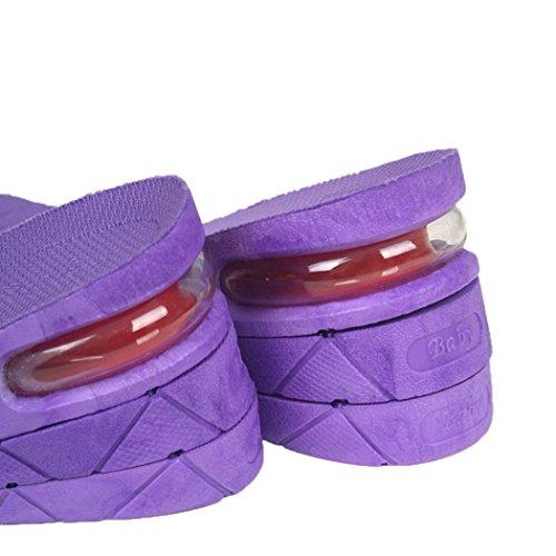 Fascigirl Traspirante di Inserti Tallone Sollevamento Scarpe Solette Scarpe Sollevamento Unisex Solette Purple 1 Pad per Solette del Paio Sqwv5UH