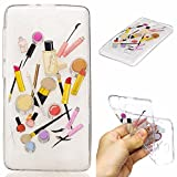 Qiaogle Phone Case - Soft TPU Silicone Case Cover Back Skin for Lenovo A536 (5.0 inch) - HC10 / Lip gloss + eyebrow pencil