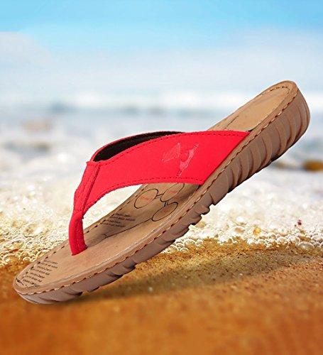 CN38 Infradito AJZGF suole C antiscivolo scarpe morbide sandali 5 di manzo Colore alla piatte 5 EU37 e moda UK4 B dimensioni premaman casual comode ciabatte con tendine qqPwx4rd
