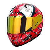 NENKI NK-856 Full Face Spiderman Motorcycle Helmet For Adult &Youth Street Bike,Fiberglass Helmet Shell,DOT Approved (RED BLUE, Large)