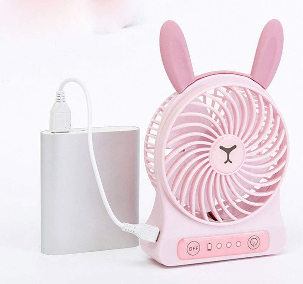 HHCZ Fan USB Desktop Cooling Plastic Case Lightweight Office Laptop Simple Portable,Pink