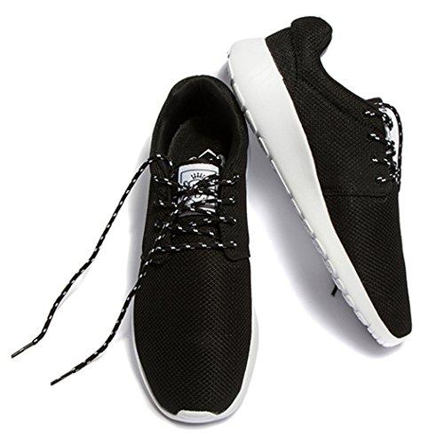 Daillor & uomo donna air-breathing rete scarpe da corsa, camminata sneakers, nero (Black), 40