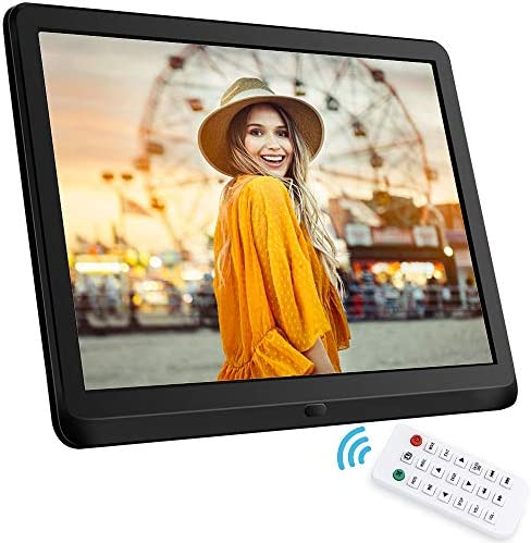 10 Inch Digital Photo Frame, NAPATEK Digital Picture Frame 1920×1080 IPS Display Electronic Picture Frame 1080P HD Video Playback Music Calendar Alarm Remote Control Support 128G SD-Black