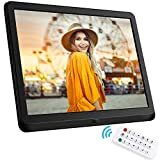 10 Inch Digital Photo Frame, NAPATEK Digital Picture Frame 1920x1080 IPS Display Electronic Picture Frame 1080P HD Video Playback Music Calendar Alarm Remote Control Support 128G SD-Black