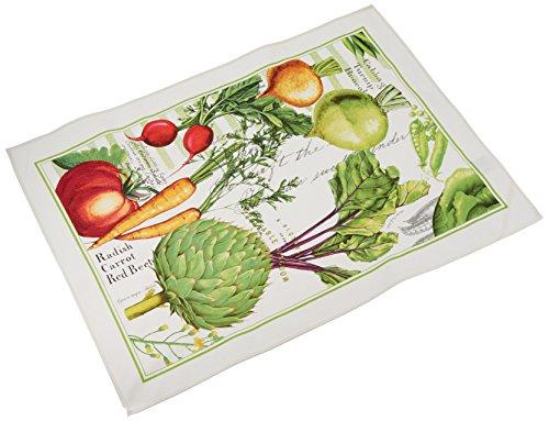 Michel Design Works Cotton Kitchen Dish Towel, Vegetable - Design Vegetable