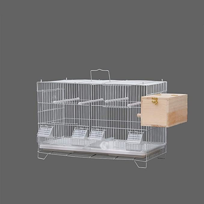 Yuanjiashop Jaula para Loro Villa cría Inicio Jaula for pájaros, Ideal for Periquitos, Canarios, pinzones Cebra y pájaros más pequeños.Incluye Perchas y Cuencos for su Comida Accesorios para Pájaros