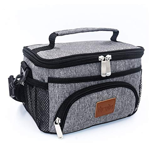 - TOP-SPRING Insulated Lunch Bag Small Size(4L), Lightweight Portable Lunch Box For School Office Picnic Outing, Heat & Cold Insulation, Waterproof Leak-Proof Lining, Grey