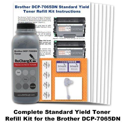 Starter Ink Refill Kit (1 X Brother DCP-7065DN Starter Cartridge Toner Refill Kit)