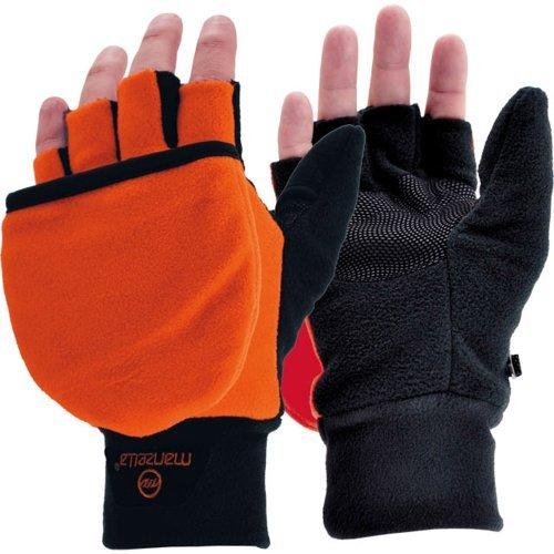 Manzella Hunter Convertible Glove, Orange, Medium