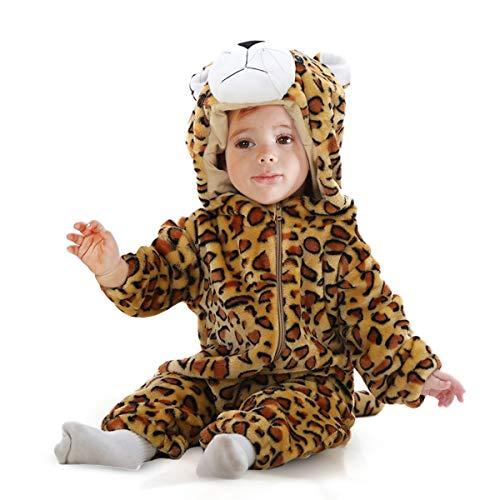 Natural Uniforms Baby Animal Jumpsuit (18-24 Months, Leopard)