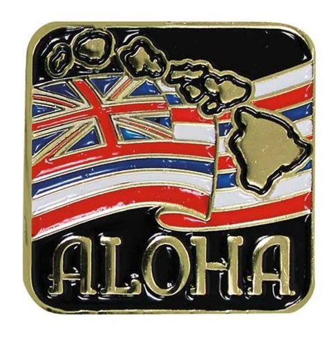 Islander Hawaiian Lapel or Hat Pin Aloha State Flag Red, White One Size