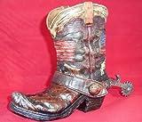 Cowboy Boot Bank Western American Flag Themed Decor