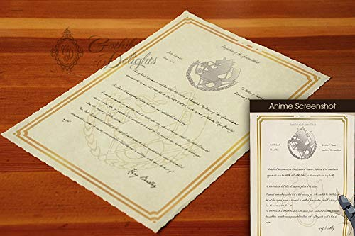 - FullMetal Alchemist - State Alchemist Certificate - Customizable with name, and title!