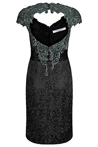 Grigio scialle senza Cocktail grigio Dynasty abito 1072752 da colore donna Fede scuro xfgnq10P6