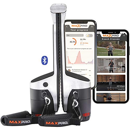 MAXPRO: Smart Cable Gym | All-in-One Machine w/Bluetooth – Free APP 100's of Workouts | Portable Exercise Anywhere…