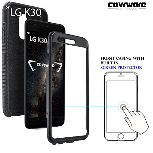 LG K30 / LG Premier Pro LTE/LG Harmony 2 case, COVRWARE [ Aegis Series ]  with Built-in [Screen Protector] Heavy Duty Full-Body Rugged Holster Armor