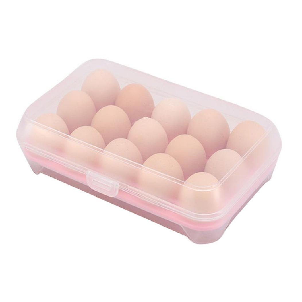 Gaddrt Useful Storage Box Plastic Lightweight Duck Egg Storage Boxes Folding Plastic Egg Carrier Holder Storage Container multi-functional storage eggs holder For 15 Eggs (blue)