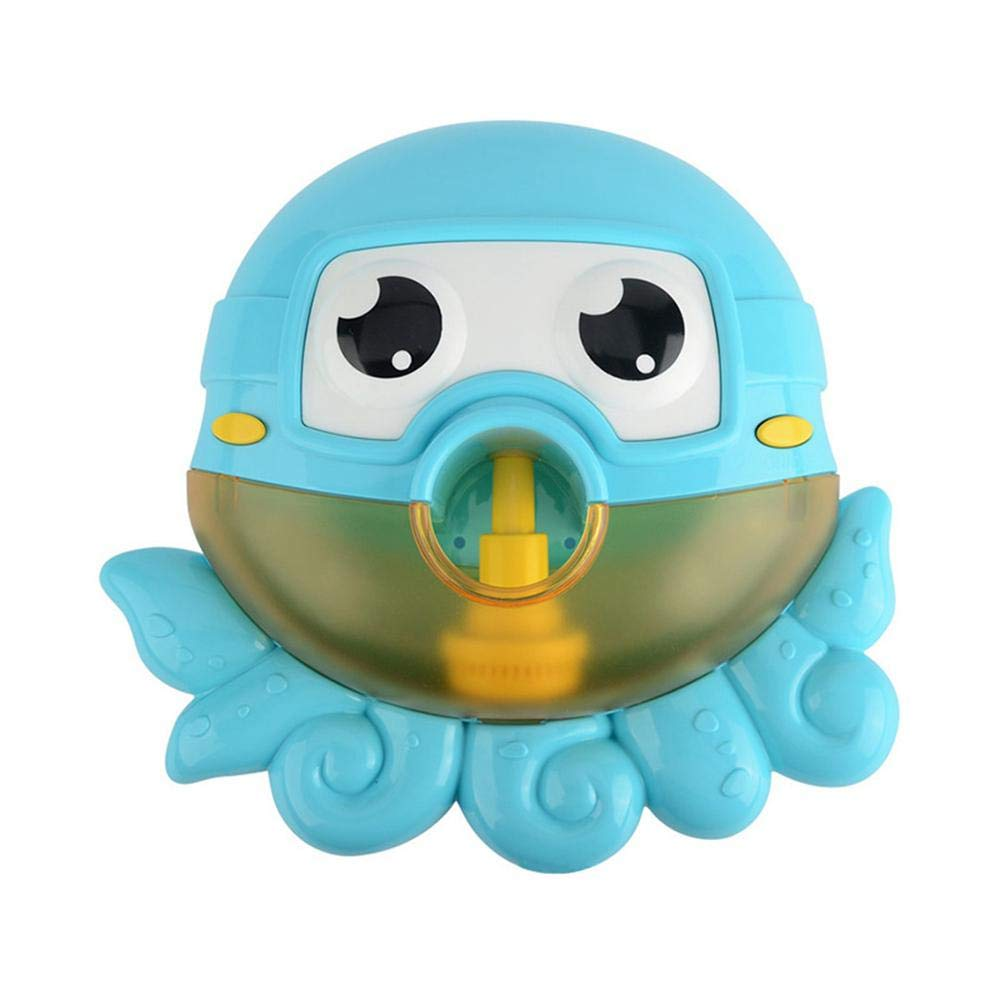KOBWA Baby Bath Bubble Maker,Tub Cute Octopus Automatic Spout Bubble Machine Bubble Blower Toy Maker with 12 Nursery Rhyme, Bath Toy for Baby Shower
