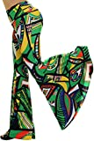 Uptown Apparel Bell Style Leg Palazzo Pants, Good for Tall, Curvy Women - Ships from U.S.A (L, GREEN3)