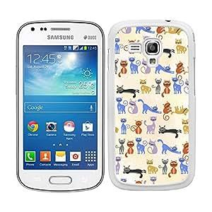 Funda carcasa para Samsung Galaxy S DUOS 2 estampado gato gatos borde blanco
