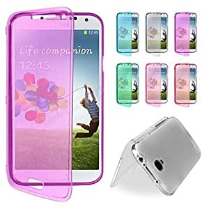 ZXC BIG D Touch View TPU Full Body Case for Samsung Galaxy S4 I9500(Assorted Colors) , White