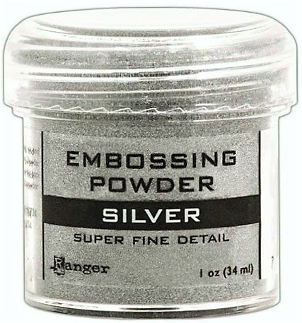 Embossing Powder Bundle- 1-2 Speed Heat Gun, 2 Ranger Super Fine Embossing Powder, 1 Bye Bye Static Pad and 2 Embossing Pens (6 Items) (White Clear) by Big Dream Arts and Parties (Image #6)