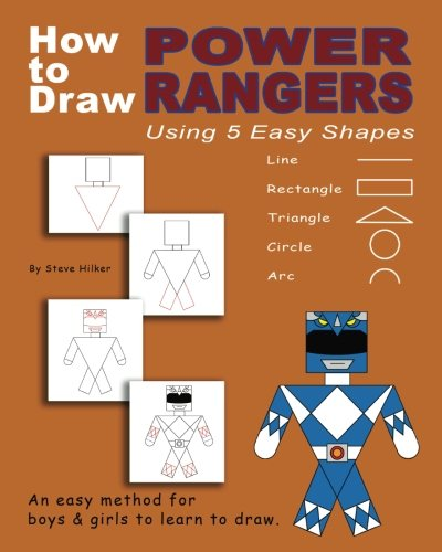 How to Draw Power Rangers Using 5 Easy Shapes