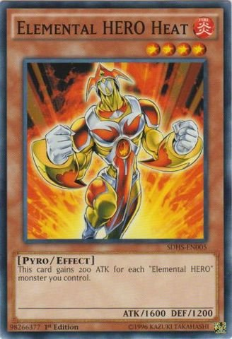 Yu-Gi-Oh! - Elemental HERO Heat (SDHS-EN005) - Structure Deck: HERO Strike - 1st Edition - Common
