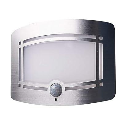 FHTD 10LED Applique Murale sans Fil Applique Capteur De Mouvement Couloir Escalier Armoire Garde-Robe Lampe D'économie Créative Urgence Veilleuse