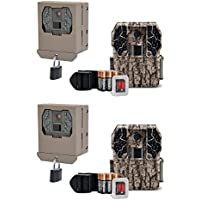 Stealth Cam ZX36NG 10MP Infrared Trail Camera (2 Pack) + Security Box (2 Pack)