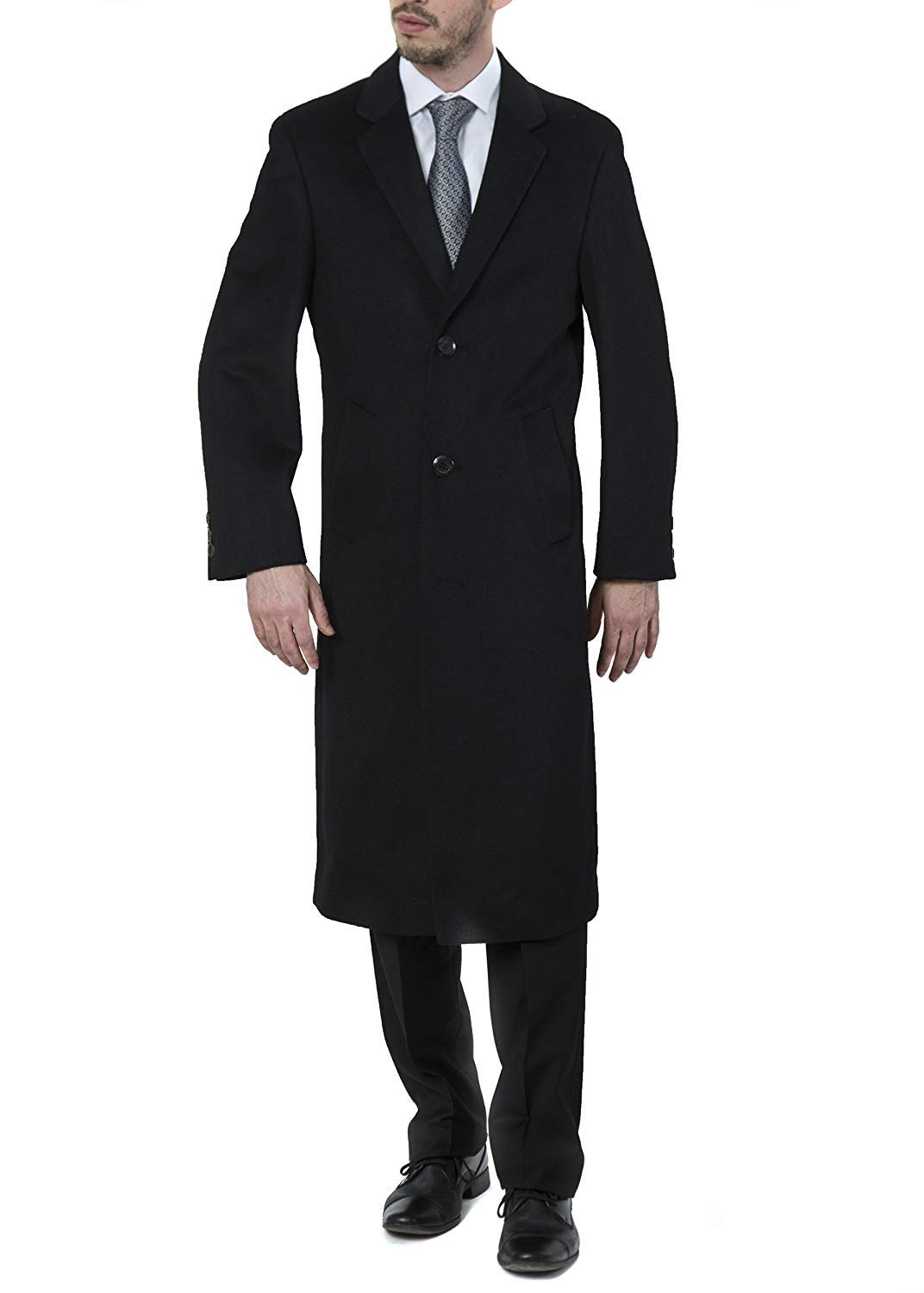 b8d4e8e3 Adam Baker Men's Single Breasted Luxury Wool Full Length Topcoat -  Available In Colors