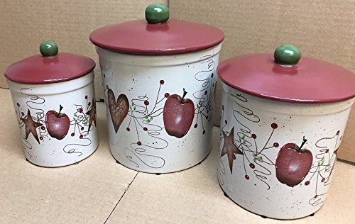 Country Apple Canister Set - 3
