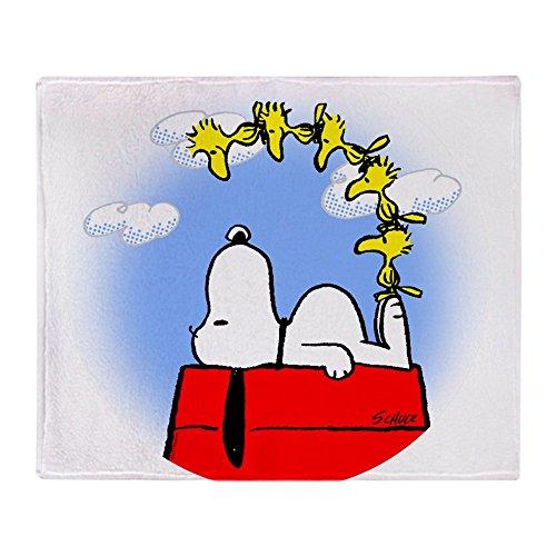 (CafePress Peanuts Woodstock Soft Fleece Throw Blanket, 50