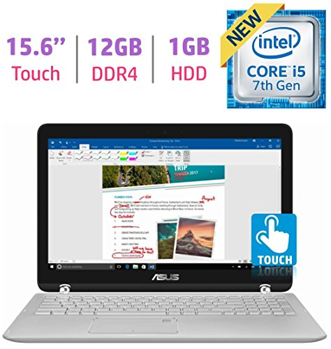 Cheap 2 in 1 Laptops Newest ASUS 15.6'' 2-in-1 Touchscreen FHD 1080p Laptop PC, 7th Intel Core..