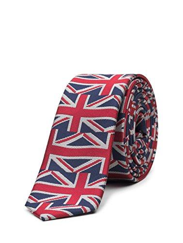 Paisley of London, Boys Royal Union Jack Slim Tie, One Size by Paisley of London