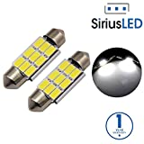 SiriusLED 5730 Chip Super Bright SMD LED Bulbs for Interior Car Lights License Plate Trunk Dome Door Courtesy 36MM Festoon 6418 C5W 6000K Xenon White