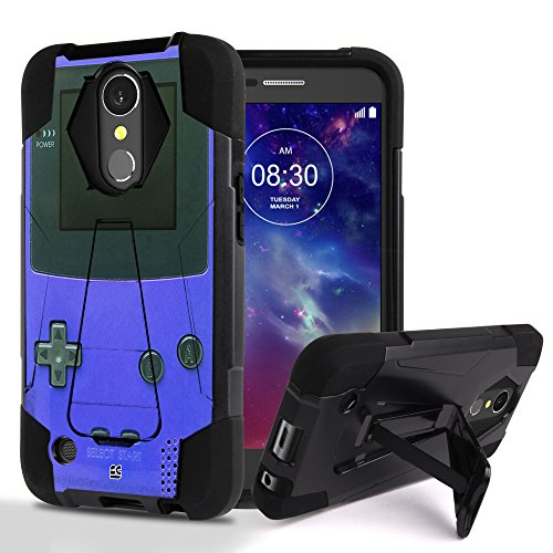 LG Harmony, LG K10 (2017), K20 V, LG V5, LG K20 Plus Case, Dual layer Hard Shell Soft Silicone Interior Hybrid Shock Absorption Rugged Phone Cover With Built In Kickstand Game Controller Boy