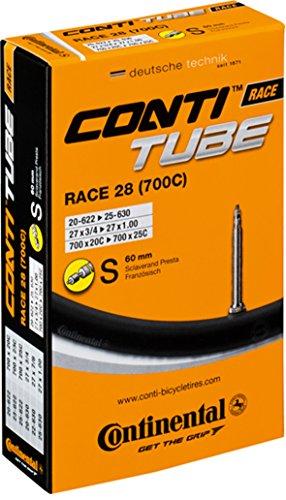 [Continental 60mm Presta Valve Tube, Black, 700 x 25-32cc] (Continental Valve)