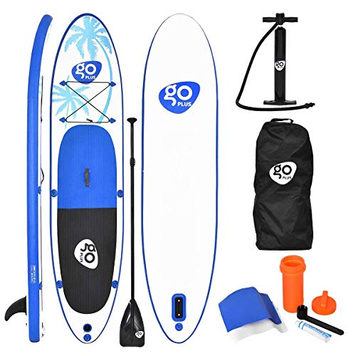 Goplus 11' Inflatable  Stand Up Paddle Board Package w/ Fin Adjustable Paddle Pump Kit Carry Backpack