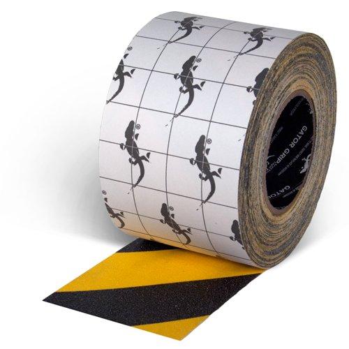 "Incom Gator Grip: Anti-Slip Tape, 4"" x 60', Yellow/Black"