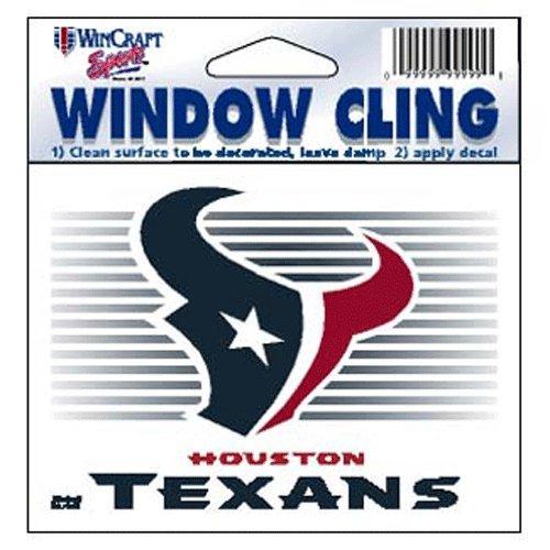 Houston Texans NFL 3x3 Static Window Cling Decal
